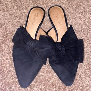 Madewell Bow Mules Black Size 9
